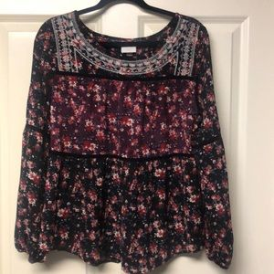 Knox Rose | Floral Blouse Size M
